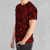 Cardinal Red Camo Hoodie - EDM Rave Festival Street Wear Abstract Apparel