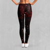 Crimson Space Leggings - EDM Rave Festival Street Wear Abstract Apparel
