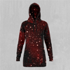 Crimson Space Hoodie Dress