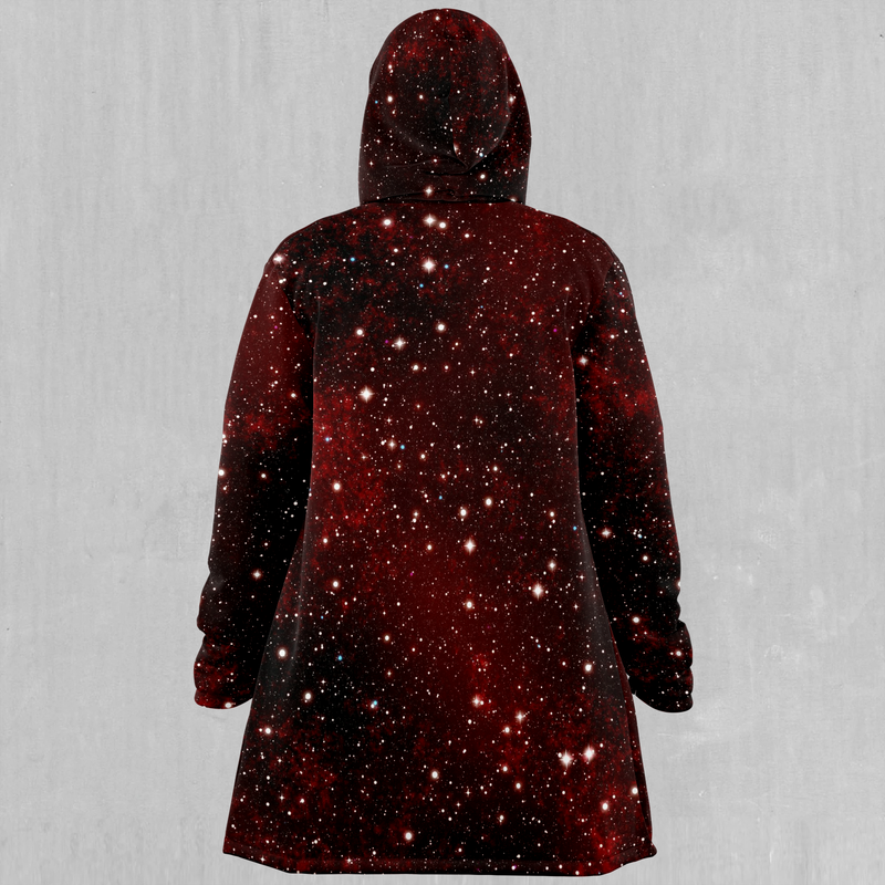 Crimson Space Cloak - EDM Rave Festival Street Wear Abstract Apparel