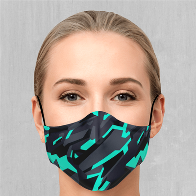 Cyber-Tech Face Mask - EDM Rave Festival Street Wear Abstract Apparel