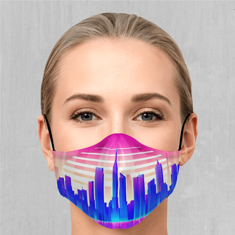 Cyber City Face Mask - EDM Rave Festival Street Wear Abstract Apparel