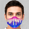 Cyber City Face Mask - EDM Rave Street Wear Abstract Apparel