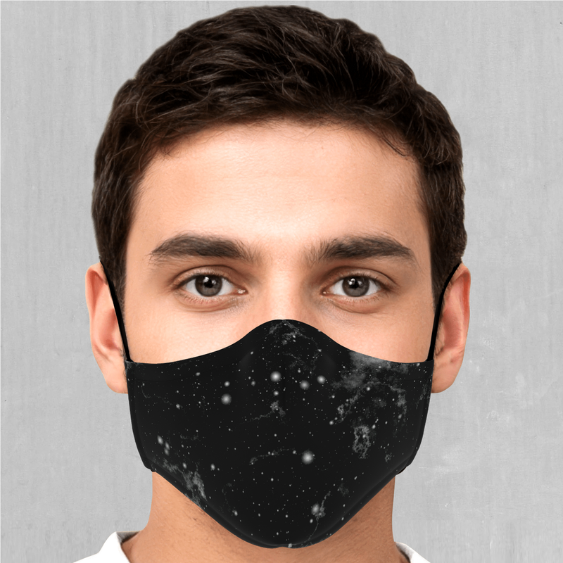 Dark Matter Face Mask - EDM Rave Festival Street Wear Abstract Apparel