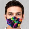 Dream Spectrum Face Mask - EDM Rave Festival Street Wear Abstract Apparel