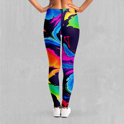 Dream Spectrum Leggings - EDM Rave Festival Street Wear Abstract Apparel