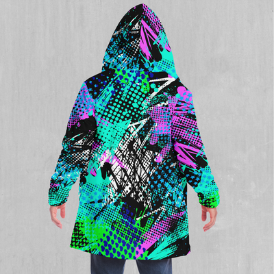 Electric Avenue Cloak - EDM Rave Festival Street Wear Abstract Apparel