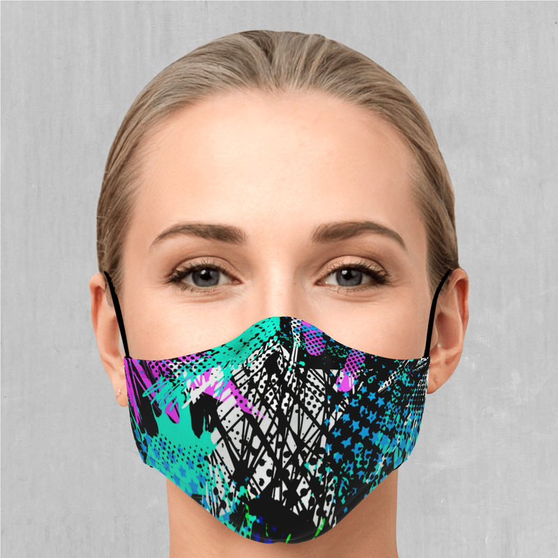 Electric Avenue Face Mask - EDM Rave Festival Street Wear Abstract Apparel