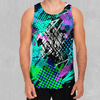 Electric Avenue Men's Tank Top - EDM Rave Festival Street Wear Abstract Apparel
