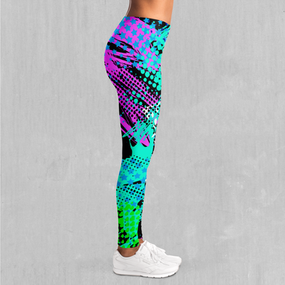 Electric Avenue Leggings - EDM Rave Festival Street Wear Abstract Apparel