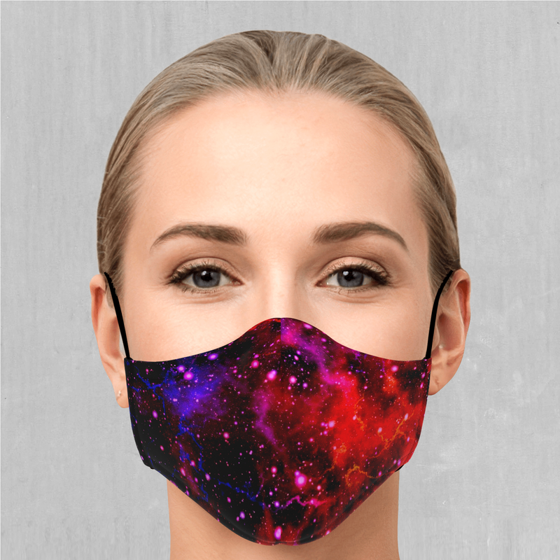 Electric Galaxy Face Mask - EDM Rave Festival Street Wear Abstract Apparel