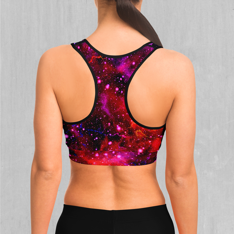 Electric Galaxy Sports Bra
