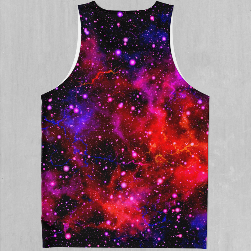 Electric Galaxy Men's Tank Top - EDM Rave Festival Street Wear Abstract Apparel