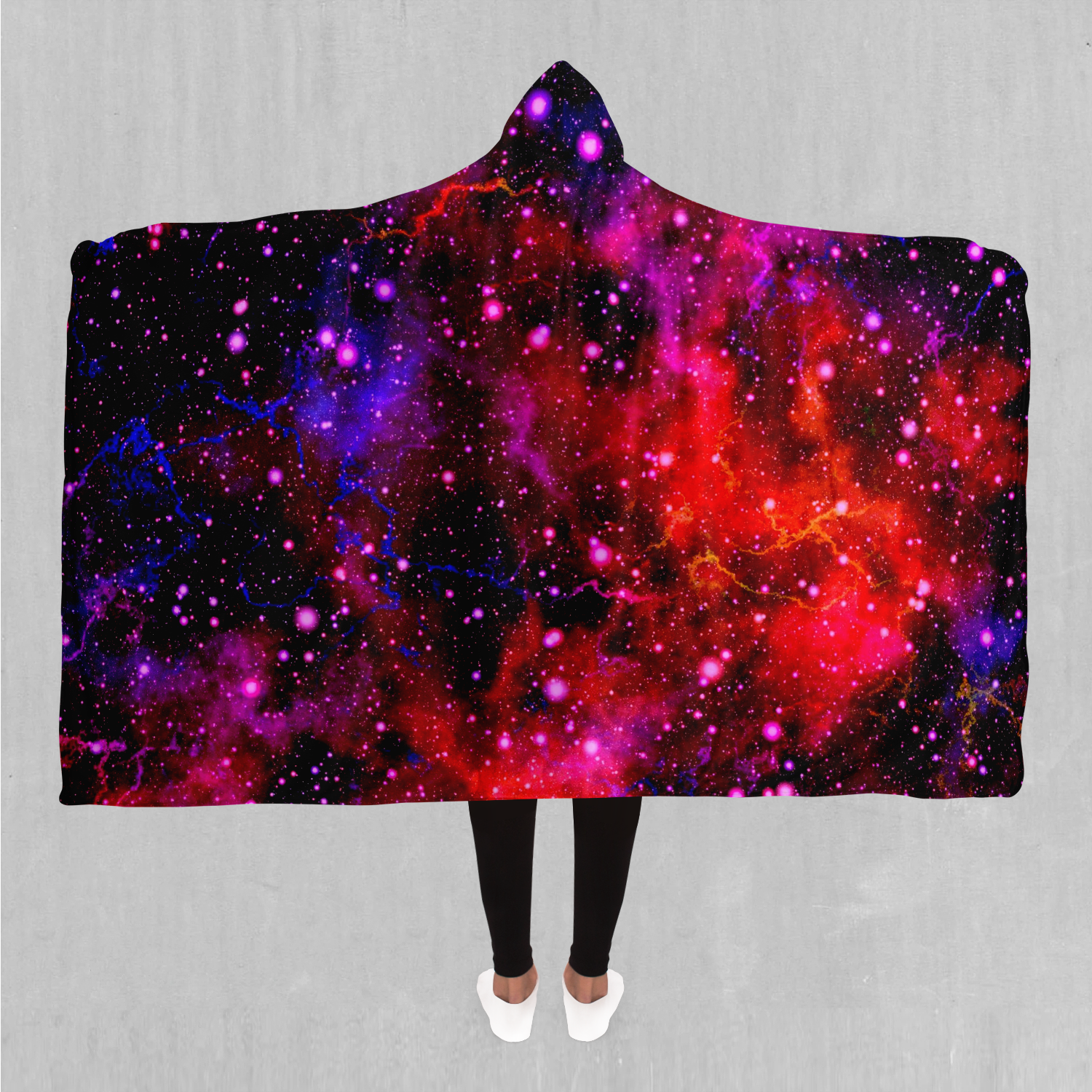 Electric Galaxy Hooded Blanket - Azimuth Clothing