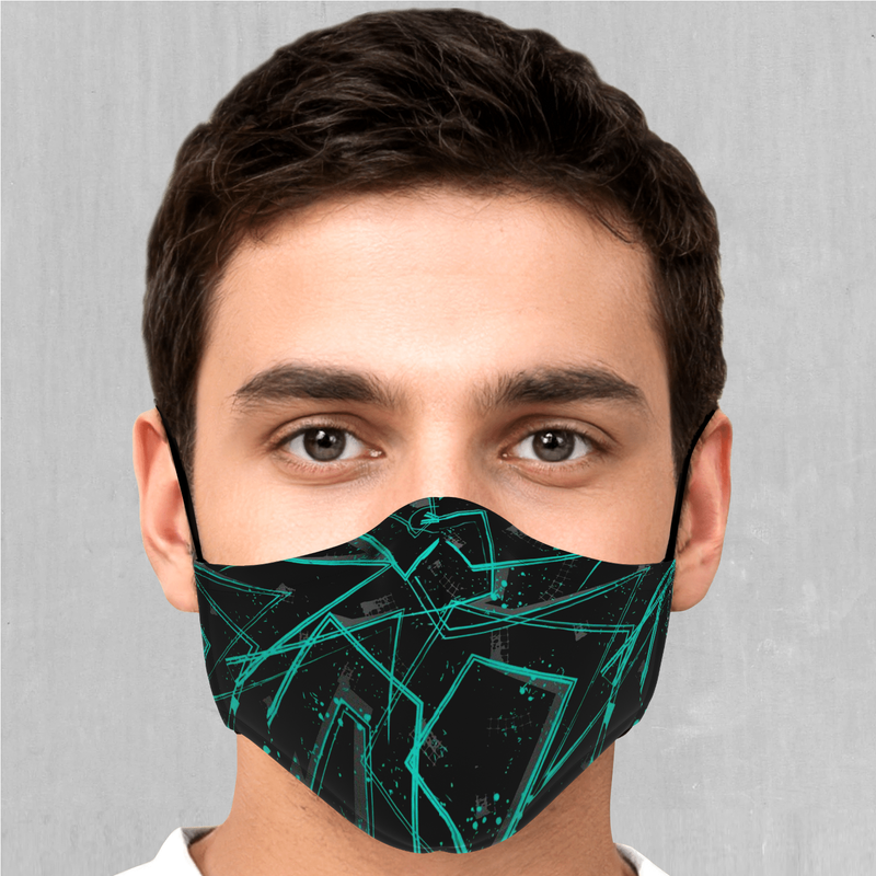 Electrostatic Face Mask - EDM Rave Festival Street Wear Abstract Apparel