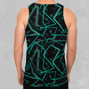 Electrostatic Men's Tank Top - EDM Rave Festival Street Wear Abstract Apparel