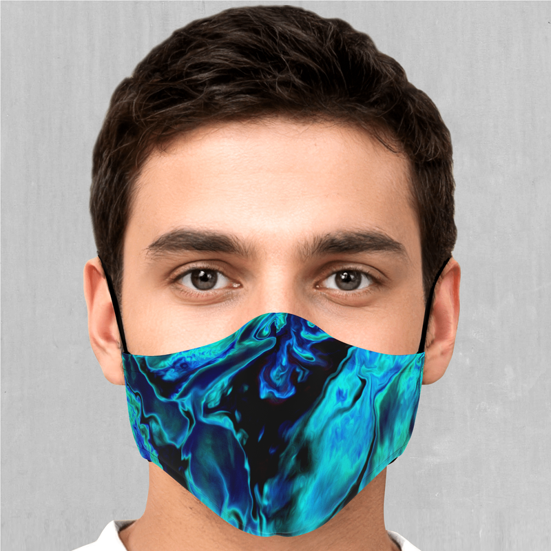 Enigma Sea Face Mask - EDM Rave Festival Street Wear Abstract Apparel