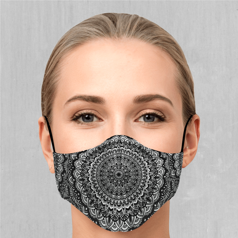 Floral Mandala Face Mask - EDM Rave Festival Street Wear Abstract Apparel