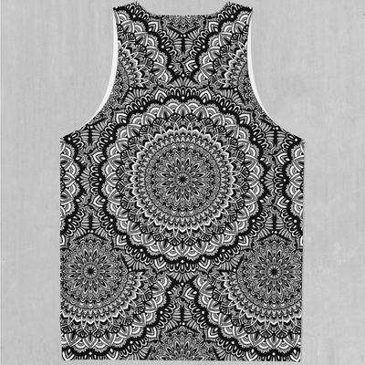 Floral Mandala Men's Tank Top - EDM Rave Festival Street Wear Abstract Apparel