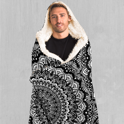 Floral Mandala Hooded Blanket - EDM Rave Festival Street Wear Abstract Apparel