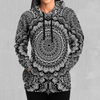 Floral Mandala Hoodie - EDM Rave Festival Street Wear Abstract Apparel