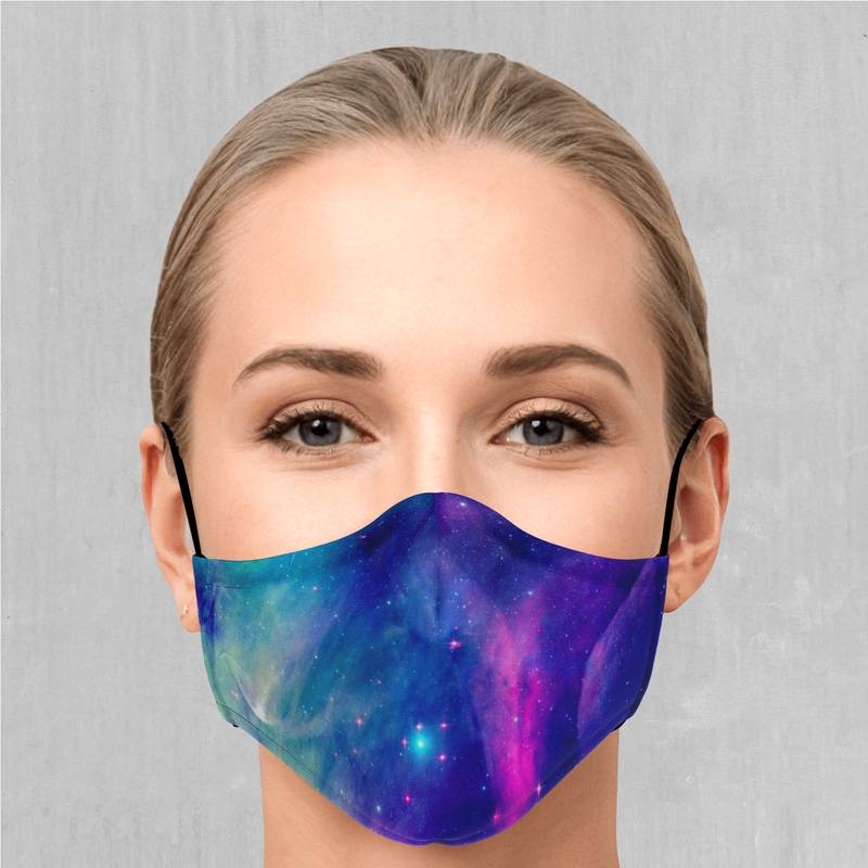 Frost Nebula Face Mask - EDM Rave Festival Street Wear Abstract Apparel