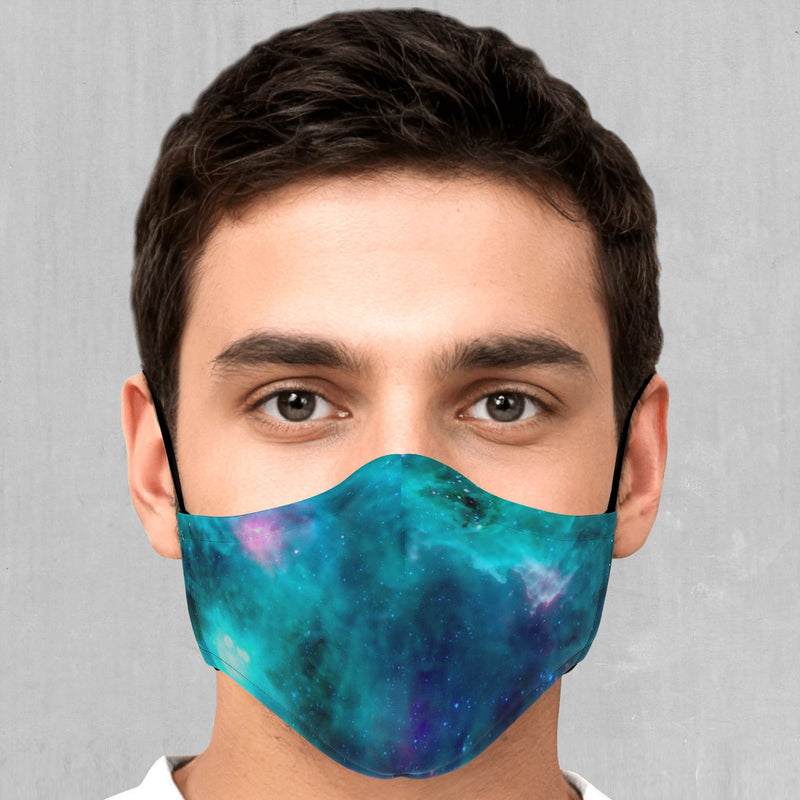 Galaxy Aurora Face Mask - EDM Rave Festival Street Wear Abstract Apparel