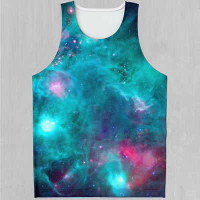 Galaxy Aurora Men's Tank Top - EDM Rave Festival Street Wear Abstract Apparel
