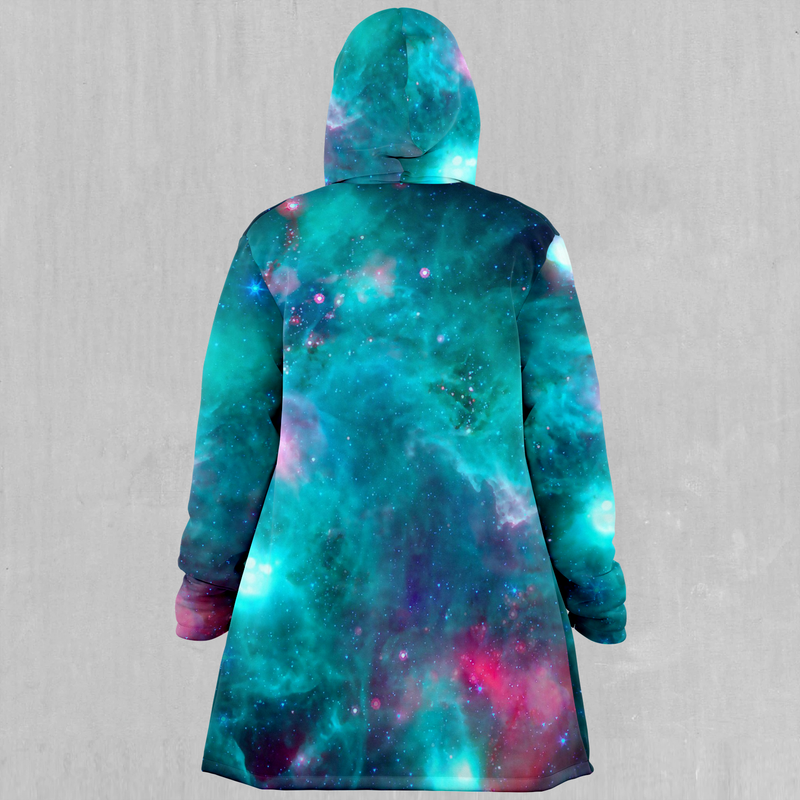 Galaxy Aurora Cloak - EDM Rave Festival Street Wear Abstract Apparel