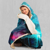 Galaxy Aurora Hooded Blanket - EDM Rave Festival Street Wear Abstract Apparel