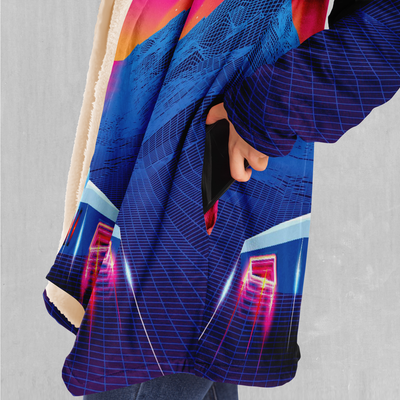 Into The Sunset Cloak - EDM Rave Festival Street Wear Abstract Apparel
