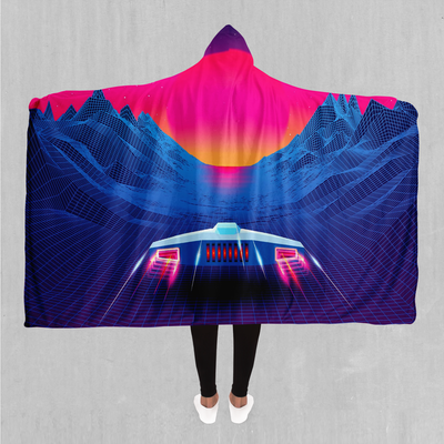 Into The Sunset Hooded Blanket