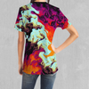 Lava Bath Tee - EDM Rave Festival Street Wear Abstract Apparel