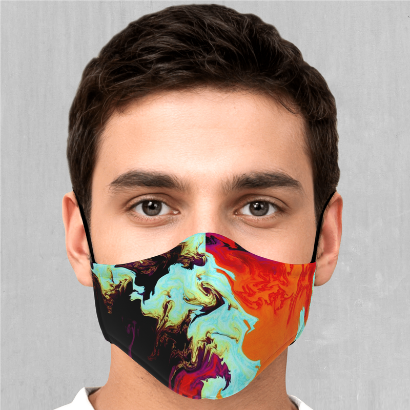 Lava Bath Face Mask - EDM Rave Festival Street Wear Abstract Apparel