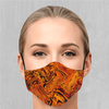 Lava Flow Face Mask - EDM Rave Festival Street Wear Abstract Apparel