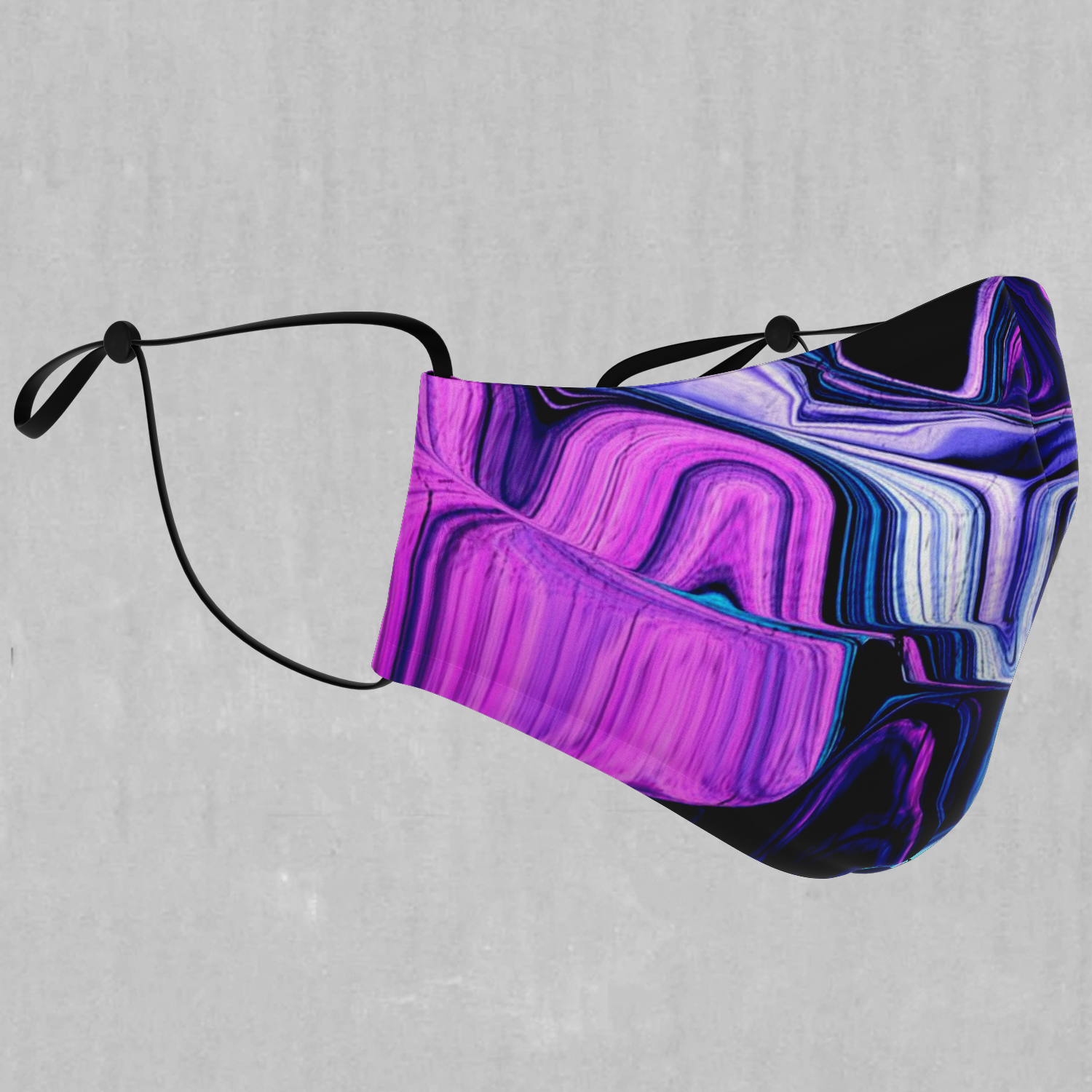 Liquid Amethyst Face Mask - EDM Rave Festival Street Wear Abstract Apparel