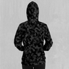 Midnight Camo Hoodie - EDM Rave Festival Street Wear Abstract Apparel