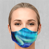 Northern Lights Face Mask - EDM Rave Festival Street Wear Abstract Apparel