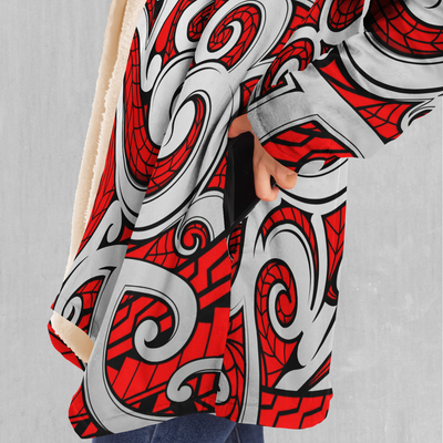 Polynesian Warrior Cloak - EDM Rave Festival Street Wear Abstract Apparel