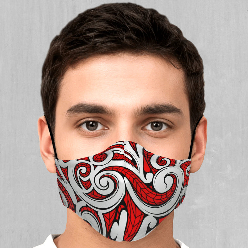 Polynesian Warrior Face Mask - EDM Rave Festival Street Wear Abstract Apparel