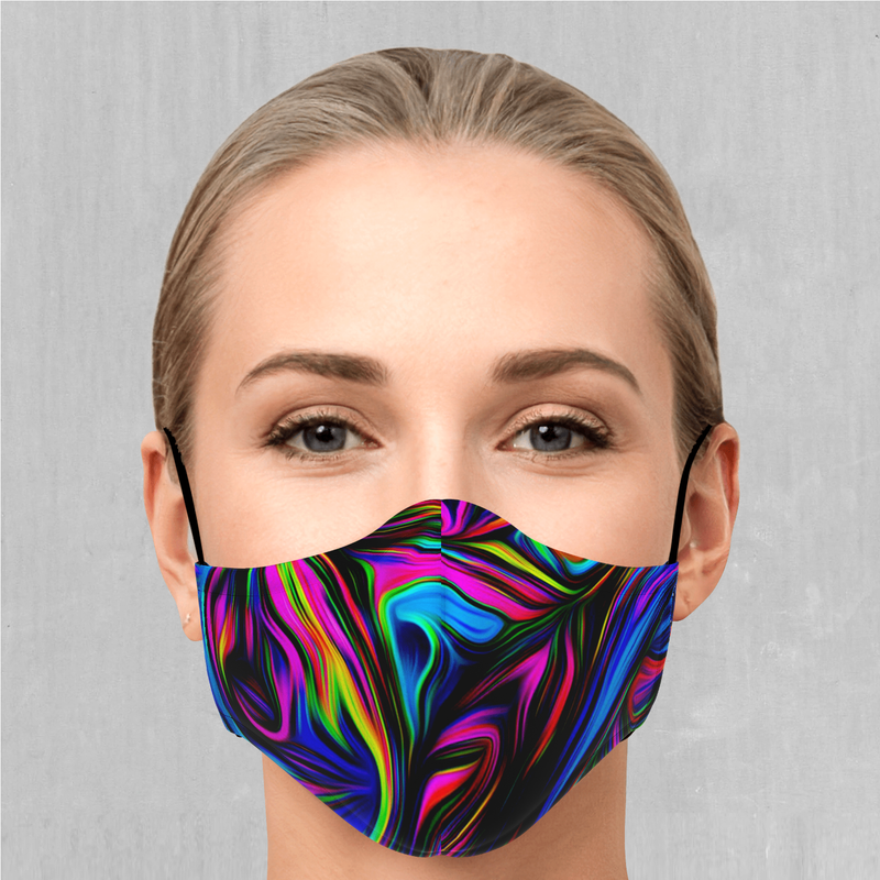 Psychedelic Waves Face Mask