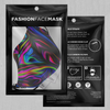 Psychedelic Waves Face Mask - EDM Rave Festival Street Wear Abstract Apparel