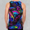Psychedelic Waves Men's Tank Top - EDM Rave Festival Street Wear Abstract Apparel