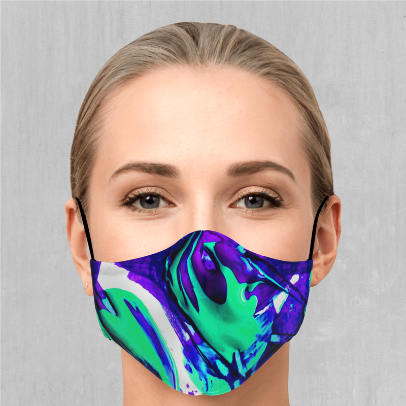 Radioactive Face Mask - EDM Rave Festival Street Wear Abstract Apparel