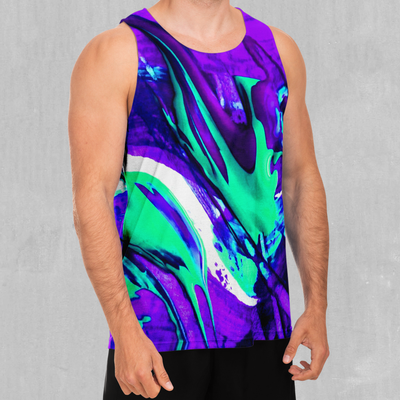 Radioactive Men's Tank Top - EDM Rave Festival Street Wear Abstract Apparel