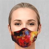 Rainbow Dust Face Mask - EDM Rave Street Wear Abstract Apparel