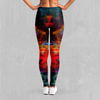 Rainbow Dust Leggings - EDM Rave Festival Street Wear Abstract Apparel