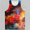 Rainbow Dust Men's Tank Top - EDM Rave Festival Street Wear Abstract Apparel