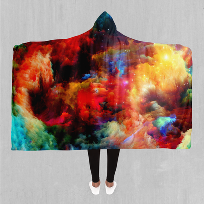Rainbow Dust Hooded Blanket