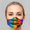 Spectrum Noise Face Mask - EDM Rave Festival Street Wear Abstract Apparel